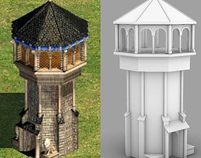 3D printable model West european tower - age of empires 2