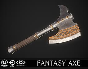 3D model game-ready Fantasy Axe 2A