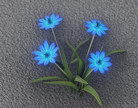 Blue Flowers - Verion 5 - Object 20 3D model