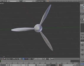 3D model 3 Blade Propeller