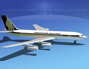 Boeing 707 Singapore Airlines 3D model