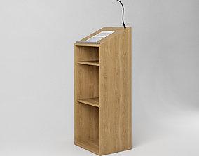 Podium - Wooden Speakers Desk with 3D asset