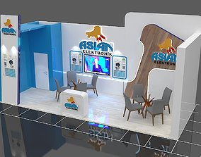 Exhibition Stall Size 9 m x 5 m Height 360 cm 3D model
