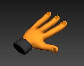 3 Finger Hand 3D asset