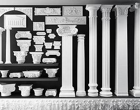 Antique Corinthian Column Set 3D model