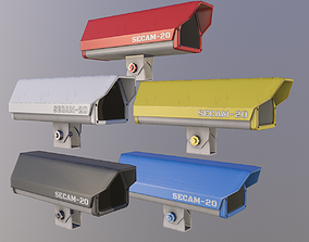 3D asset Security Camera - Multiple Colors