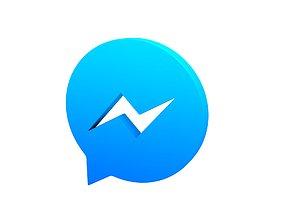 3D asset realtime Messenger Logo