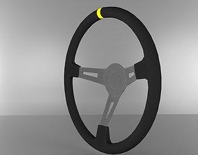 drift sport steering wheel 3D model