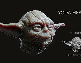 3D printable model starwars Yoda Head