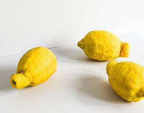 Lemon 001 3D model meringue