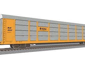 Train Car - Car Carrier - Autorack 3D autorack