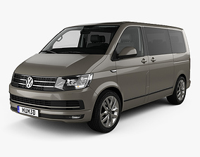3D model Volkswagen Transporter T6 Multivan with HQ 1