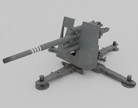3D asset Flak 37 88mm AA-AT Gun