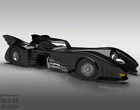 3D chrome 1989 Batmobile Tim Burton style ver