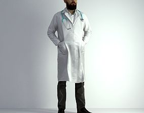 3D Scan Man Doctor 020 character