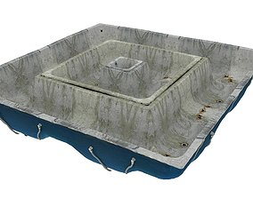 3D asset Old Swimming Pool 01 03