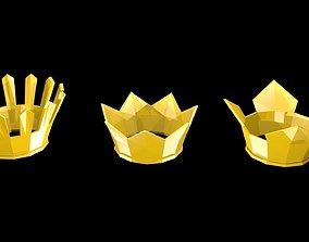 Low poly crowns 3D model