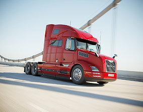 3D model American semi truck