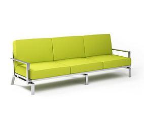 3D model Lime Green Sofa