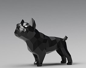 Geometric french bulldog 3D print model