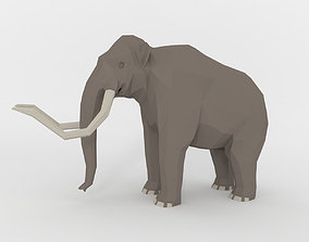 3D model low-poly Mammoth