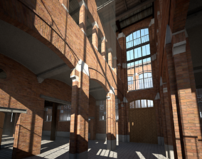 Old Factory 3D model interior