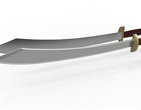 Zuko dual swords from Avatar TV series 3D printable model