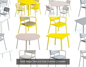 Kettal Village Table and Chair Collection 3D