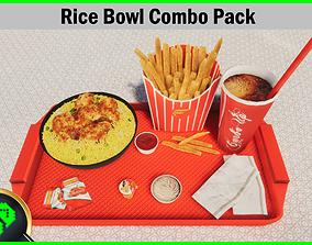 3D model Rice Bowl Combo Pack