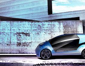 automotive Hatchback Car 3D model
