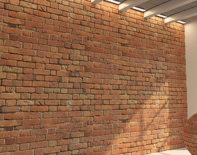 3D model Brick wall Old brick 47