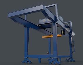 3D asset PBR Rail Mounted Gantry Crane RMG V1 - Blue