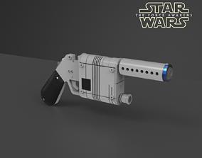 3D printable model Rey Blaster - The Force Awakens