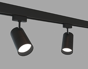 3D asset Rigged Lowpoly Led Track Spot With Photometric