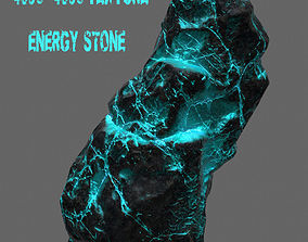 3D asset game-ready Glowing Rock