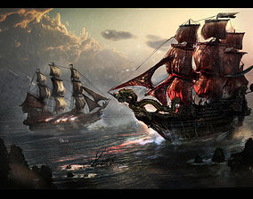Ship sails for Ship 3D model