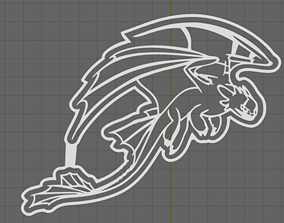 Toothless Cookie Cutter with detail 3D printable model 5