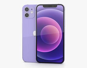 3D Apple iPhone 12 Purple