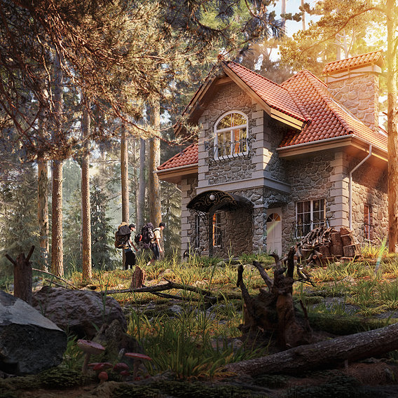 House in the forest (Shishkin forest)