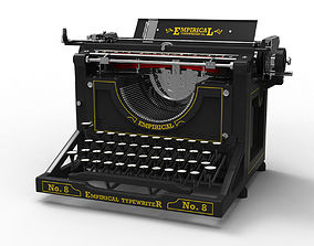 3D Antique Typewriter