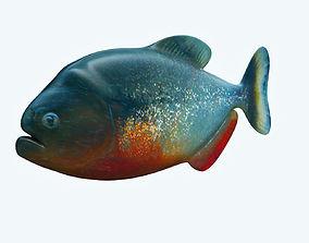 3D model Piranha Fish
