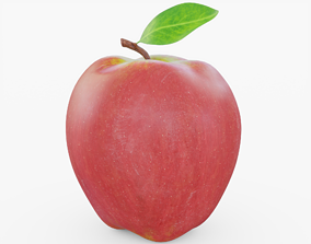 Red Apple 3D asset realtime