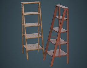 Magnificent Vintage Usit Stepladder Chair 2 Step Version 3D Model Max Caraccident5 Cool Chair Designs And Ideas Caraccident5Info