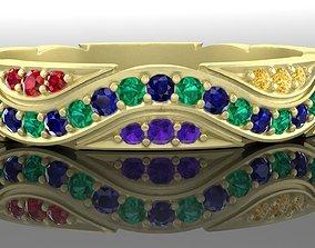 3djewel 3D printable model Ring snake