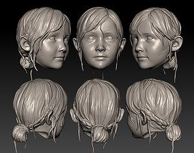 1-6 Scale Head Sherry Birkin - RE2 remake 3D print model