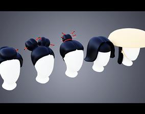 Base Haircuts 71-75 3D asset