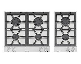 3D Gaggenau gas cooktops