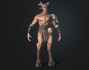 Faun 3D model Character VR / AR ready