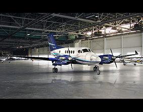 3D model Beechcraft King Air 250