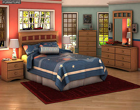 Ashley Benjamin Panel Bedroom Set 3D model